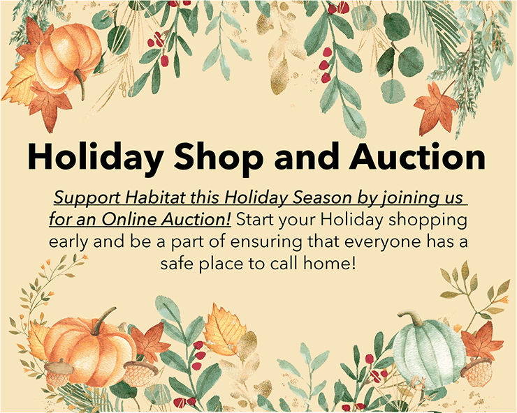 Click here to view our Habitat Holiday Shop flyer
