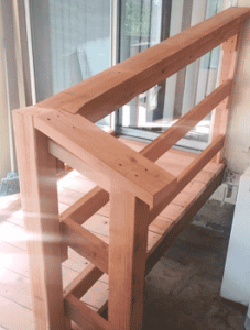 Accessibility ramp handrail