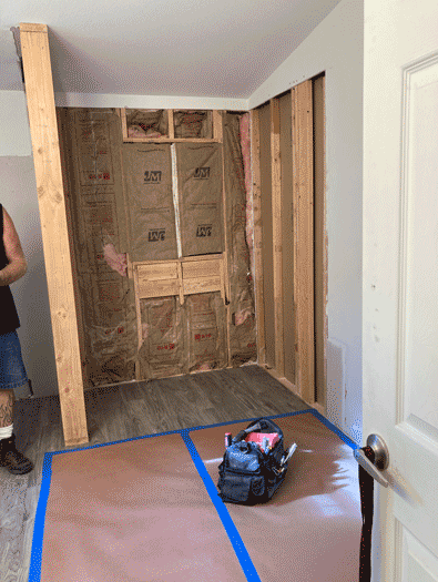 Installing a new shower stall