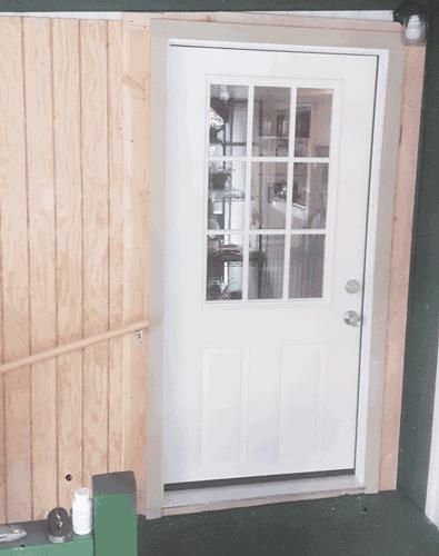 New accessible door