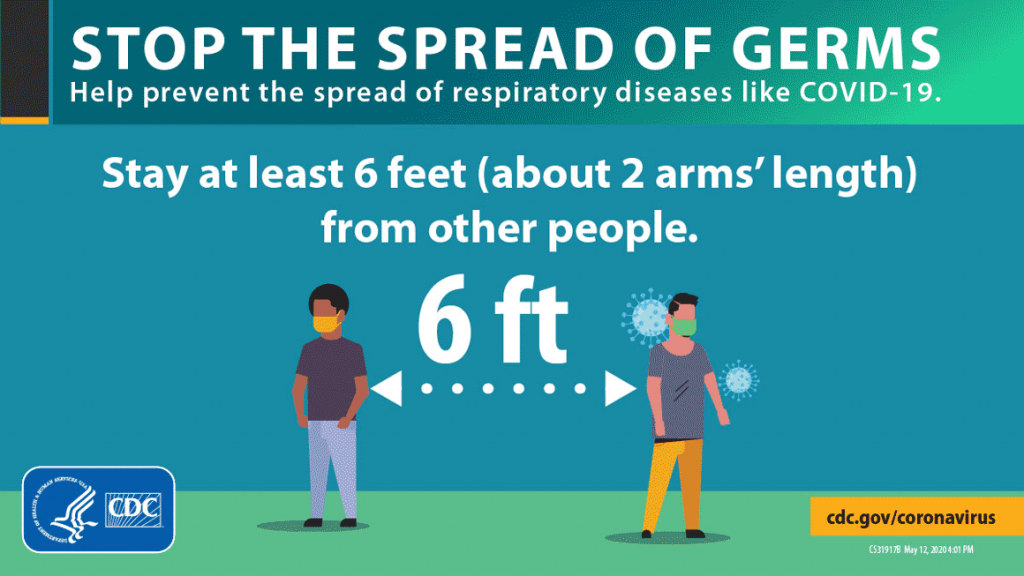 Stop the spread of germs by social distancing