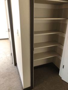 Upstairs hallway linen closet